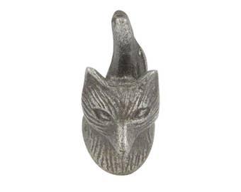 Metal  Woodland Mr Fox Cupboard Drawer Knob Pull