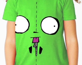 Invader Zim: Gir (Nick Toons) Children's Green T Shirt