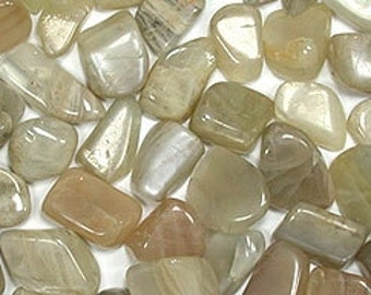 High quality tumbled Moonstone.  All pieces hand picked!