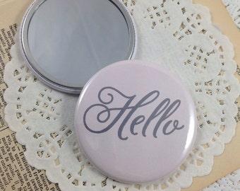 Pocket Mirror, Bridesmaid Gift, Mirror, Purse Mirror, Party Favors, Shower Favors, Teacher Gift, Stocking Stuffers