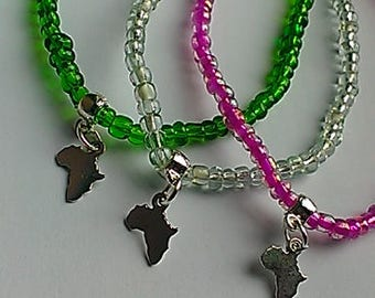 Little 'Africa' Anklets,women,teen,afrocentric