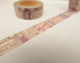 Vintage Retro News Washi Tape