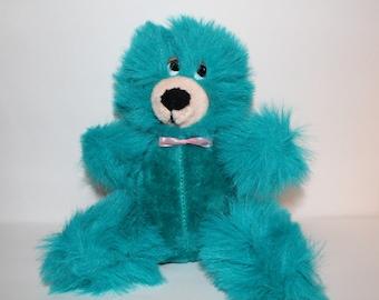 Vintage Teddy Bear Plush Liberty Toy Co. Inc. Blue Stuffed Animal