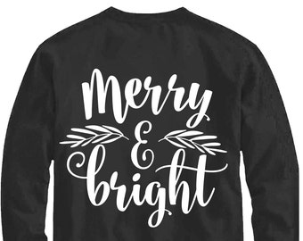 Merry and bright svg, Believe svg, Merry Christmas SVG, DXF, EPS, Be Merry svg, merry christmas cut file, christmas svg, snowflake, cricut
