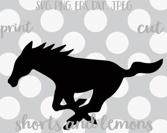 Horse svg, Mustang SVG, pony svg, colt svg, broncos svg, stallions svg / Yeti Decal / Digital Download / Horseshoe / running horse