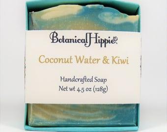 Coconut Water & Kiwi, Handmade Bar Soap