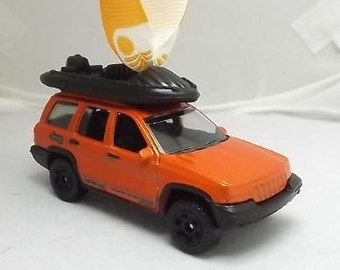 Jeep Cherokee Grand Cherokee 4X4 - carrying Boat - Mirror Buddy ornament - FREE SHIPPING