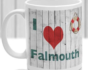 Falmouth mug, Gift to remember Cornwall, Ideal present,custom design.