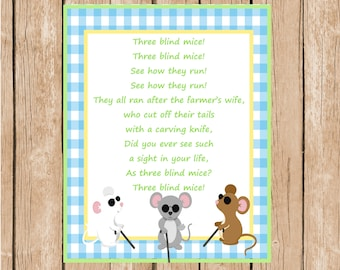 Three Blind Mice Instant Download