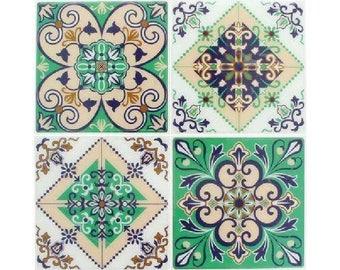 4 stickers tiles cement 12 x 12 cm - Stickers tiles cement - tile adhesive cement - tile sticker - 22002022