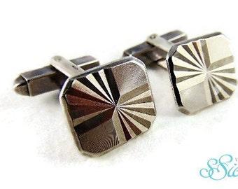 Sleek ART DECO 835 silver cufflinks by VJG!