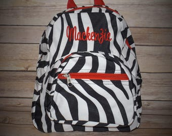 Zebra Backpack, toddler backpack, zebra toddler backpack, monogrammed backpacks, personalized backpacks, backpacks, girl backpacks