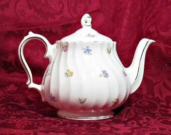Vintage James Sadler Porcelain Tea Pot With Floral Pattern
