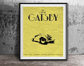 Movie poster print,The Great Gatsby,Minimalistic movie poster,Gatsby,Film poster art,Minimalistic poster print,Instant download,Movie poster