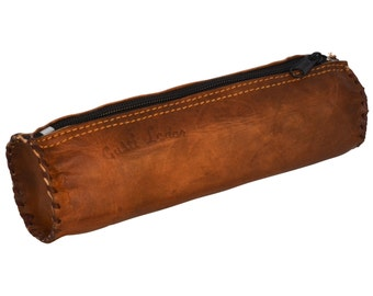 Gusti leather 'Timmy' genuine leather pencil case
