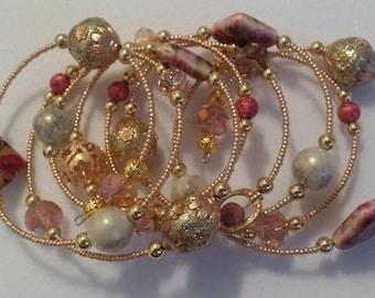 Long Gold Wrap Bracelet