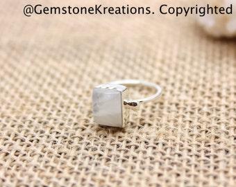 Moonstone Rings, 925 Sterling Silver Ring, Moonstone Ring