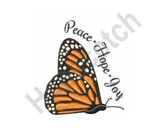 Monarch Butterfly - Machine Embroidery Design