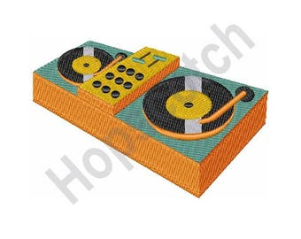 Disc Jockey Turn Table- Machine Embroidery Design