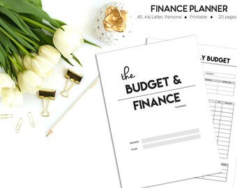 Finance Planner, Printable Budget Planner, Financial Planner, Budget Binder, Budget Printable Planner Inserts, Monthly Bills