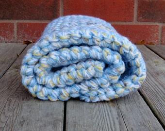 Crochet Baby Blanket, Crib Blanket, Stroller Blanket, Baby Afghan