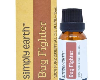 Bug Fighter Essential Oil Blend by Simply Earth - 15ml, 100% Pure Therapeutic Grade