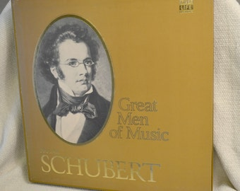 Franz Schubert - Time Life Great Men of Music Boxed Vinyl Set of Classical Music