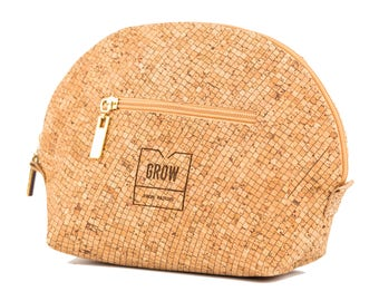 Cork Makeup Bag, Free shipping, Vegan, Eco and sustainable Product, perfect gift for her, Unique gift, Made in Portugal