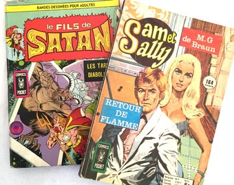 "Lot of 2 vintage comic ""son of satan"" and ""Sam and Sally"""