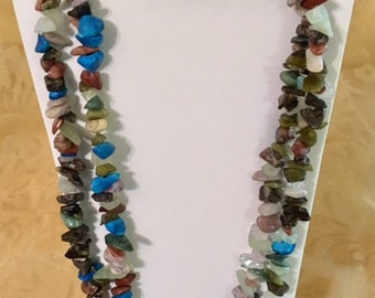 Chip Multi-Gemstone Strand 35""