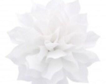 "3.5"" White Hair Flower Clip   Boutique Bow   Hair Bows   Headband   Girls   Baby"