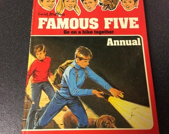 Vintage 1977 Enid Blyton Famous Five Book Annual, Go on a hike together, 1970s children's classic, adventure book, Lashings of Ginger Beer!!
