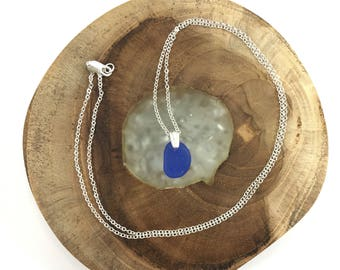 Sterling Genuine Sea Glass Necklace