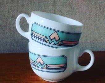 Tasses à café géométrique / Cups