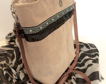 """The NinieCousette Mini"" bag version nubuck style Bohemian"
