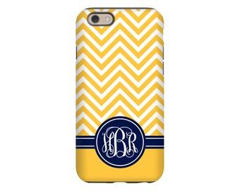 Monogram iPhone 7 case, yellow iPhone X case, chevron iPhone 8 case, iPhone 7 Plus/8 Plus case, iPhone 6s Plus case/6s case, iPhone 6 case