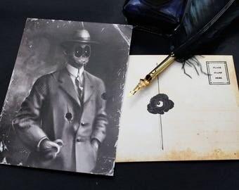 "Lovecraftian Horror ""Henry"" | H.P. Lovecraft | Postcard | Dark Horror Portrait | Gift Idea"