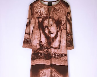Jean-Paul GAULTIER Cult Art Print Stretch Dress