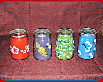 Decorative Hand-Painted Candles.