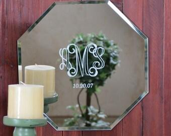"Custom Monogramed 12"" Mirrors"