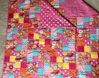 Bright Colored Toddler Quilt