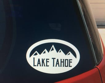 Lake Tahoe vinyl car window sticker/decal