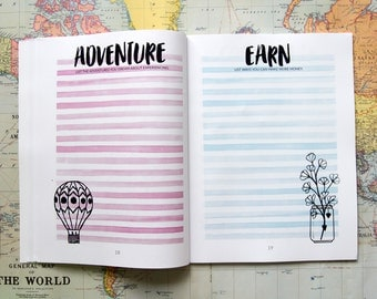 """List Your Way to Happiness  - 8.5x11"""" - Motivational List Based Planner to Your to Happiest Self - Self Improvement Planner - Happy Planning"""
