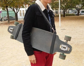 For longboard made hand carry strap