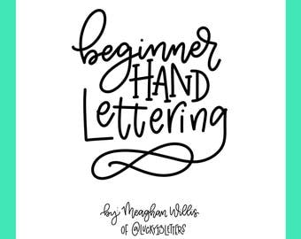 Beginner Hand Lettering Worksheets- Downloadable