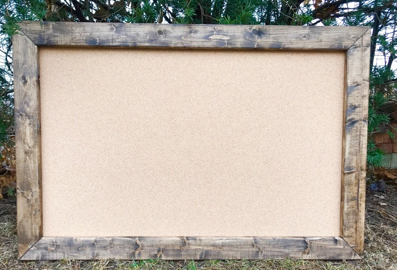 Large Wood Framed Cork Board.Framed Cork Board Small Large Blanco ...