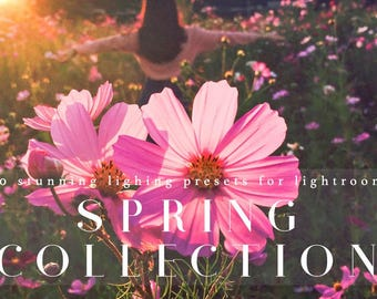 Stunning Spring Lighting 140 Presets for Lightroom Professional Photo Editing for Portraits, Newborns, Weddings By LouMarksPhoto