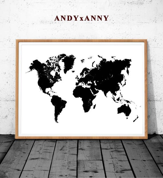 World map wood poster printable world map world map wall te gusta este artculo gumiabroncs Gallery