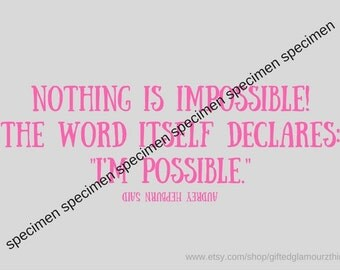 pink & grey wallpaper with quote