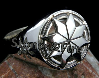 ALATYR Star Handcrafted Slavic Ring _Slavic Star _Slavic culture _Handcrafted jewelry _Pagan's Gift
